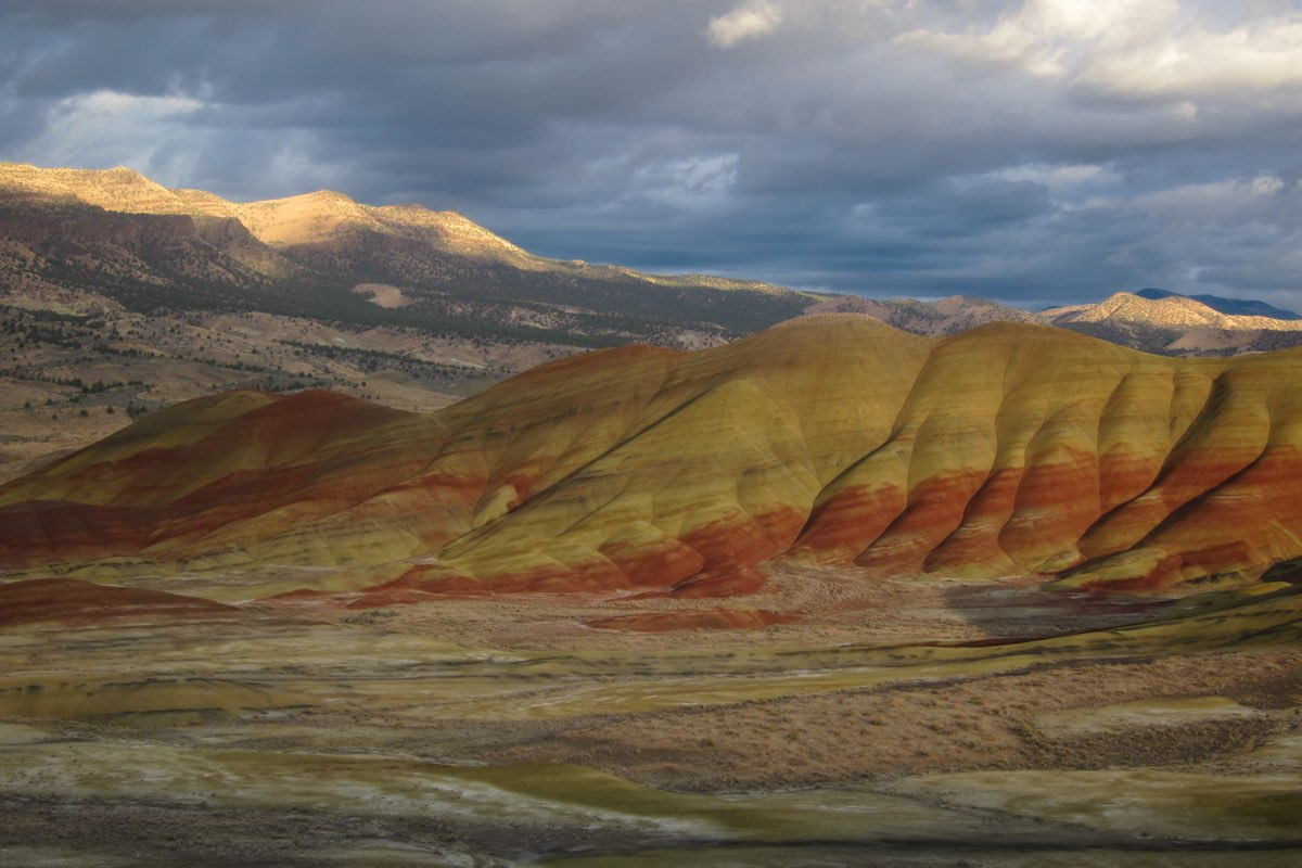 Painted Hills in John Day Fossil Bed National Monument.
