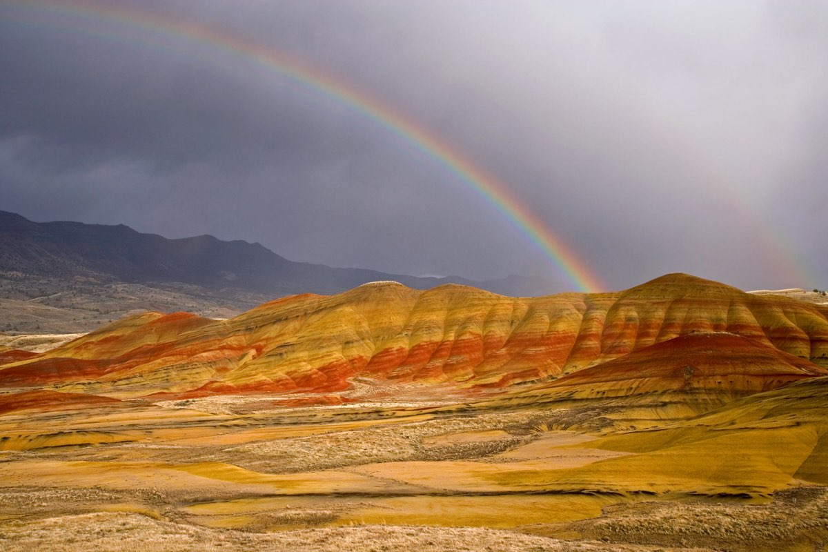 Rainbow of the Painted Hills John Day Fossil Beds National Monument.