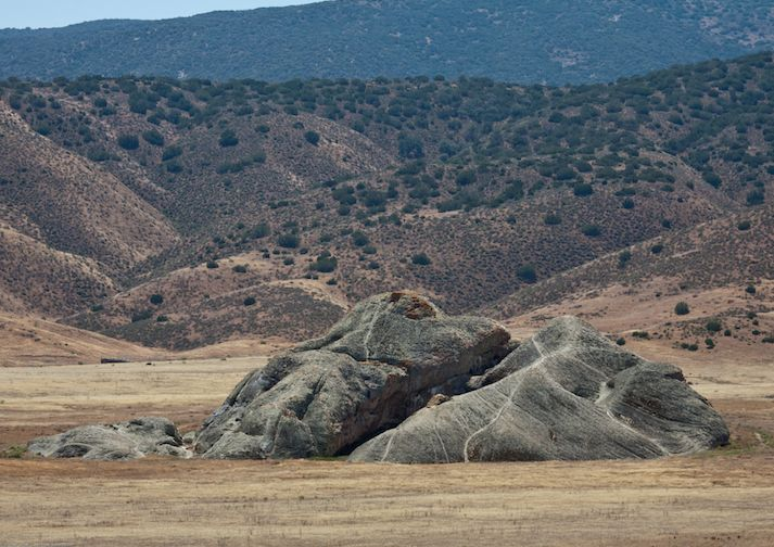 Painted Rock in the Carrizo Plain National Monument near Bakersfield California