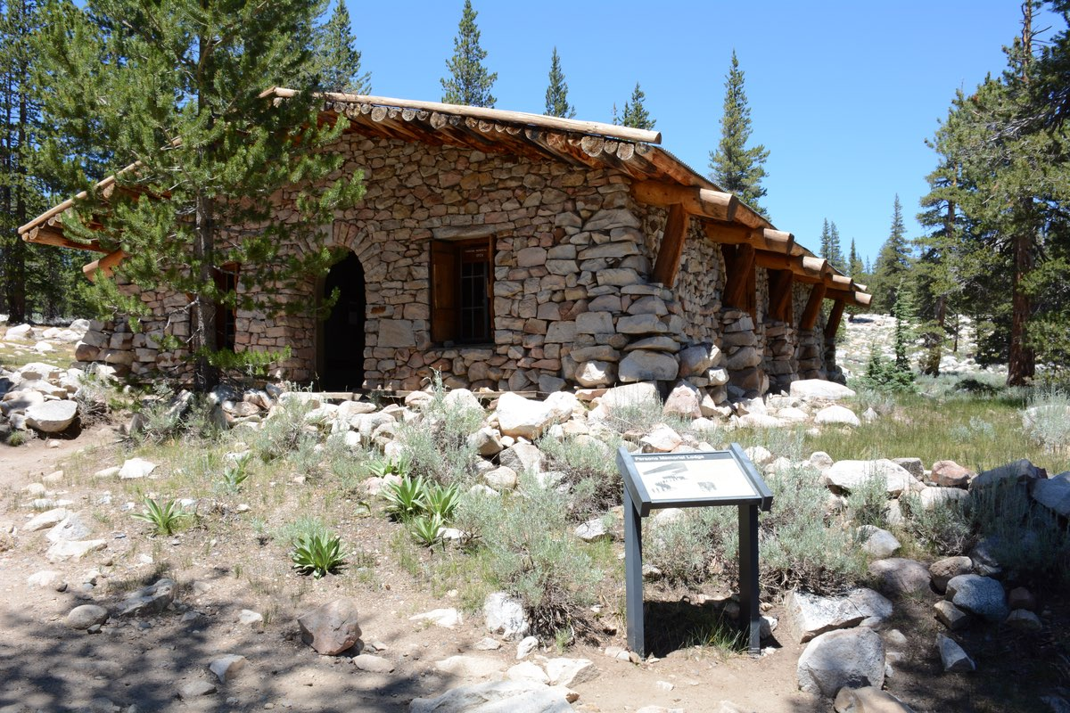 The historic Parson's Lodge along the Soda Springs Trail in Yosemite.