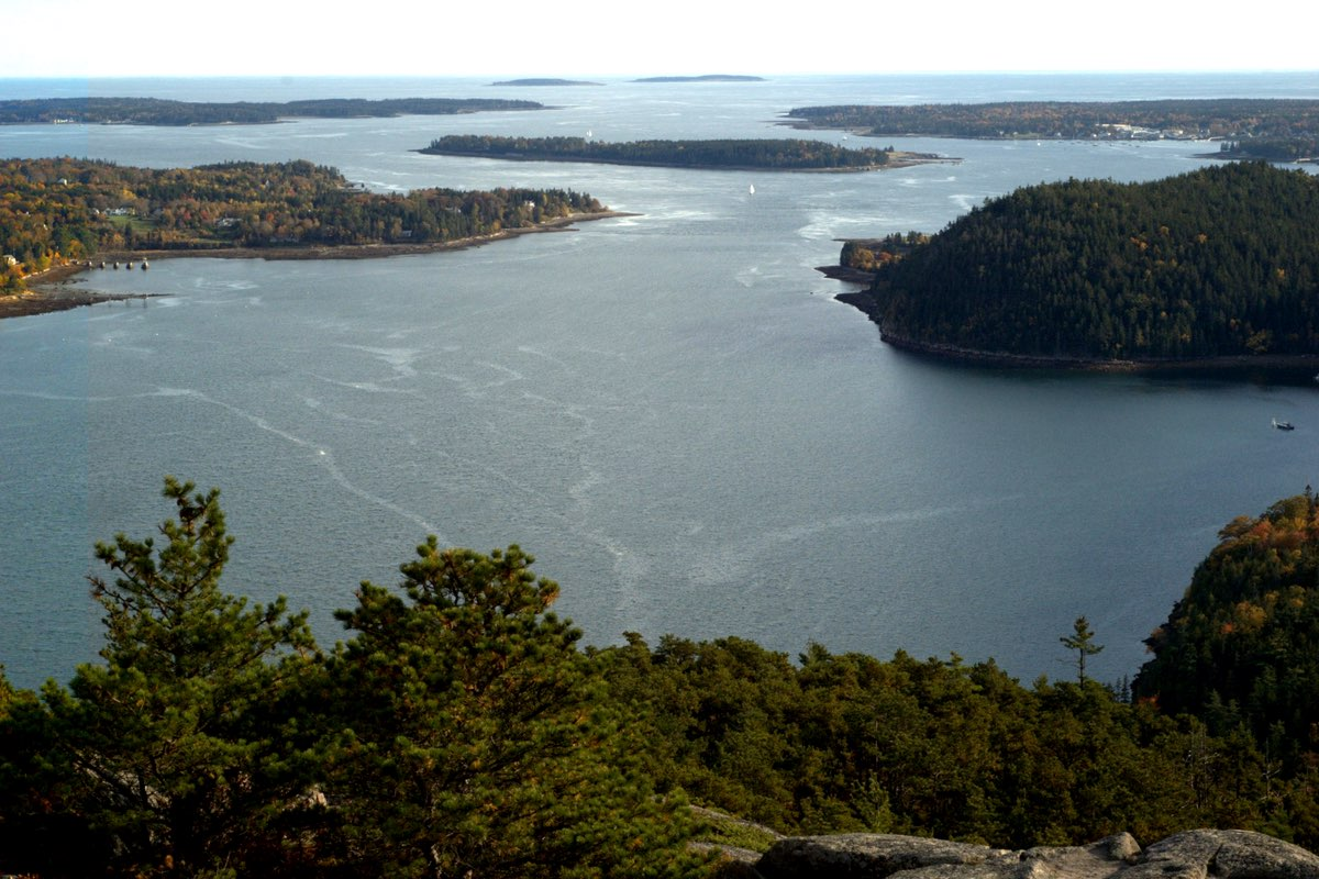 View from the Perpendicular Trail in Acadia National Park.