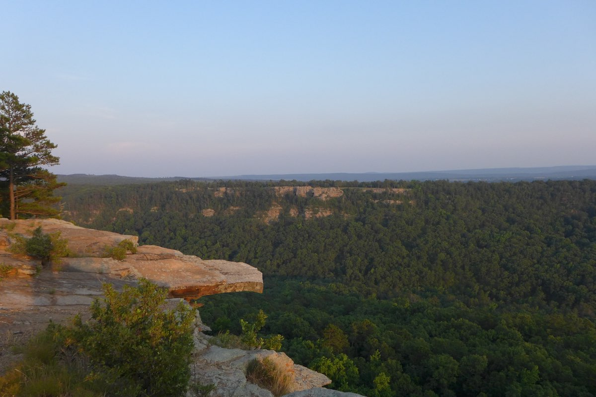 Beautiful Petit Jean State Park in Arkansas.