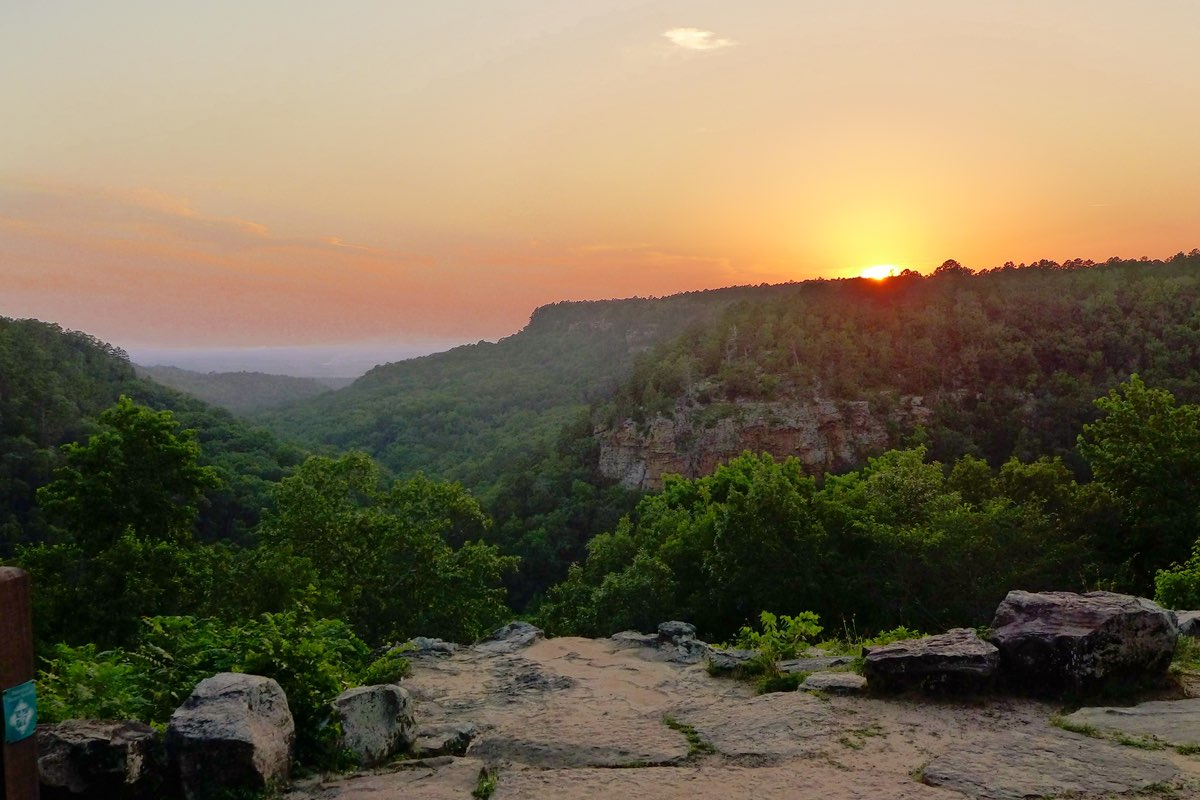 Beautiful Petit Jean State Park in Arkansas.