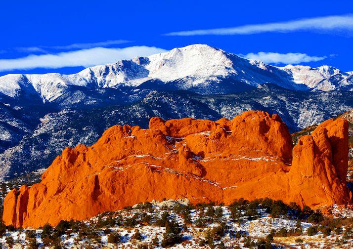 Pikes Peak near Colorado Springs.