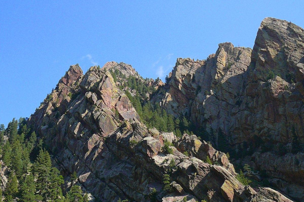 View along the Rattlesnake Gulch Trail Eldorado Canyon State Park near Boulder Colorado.