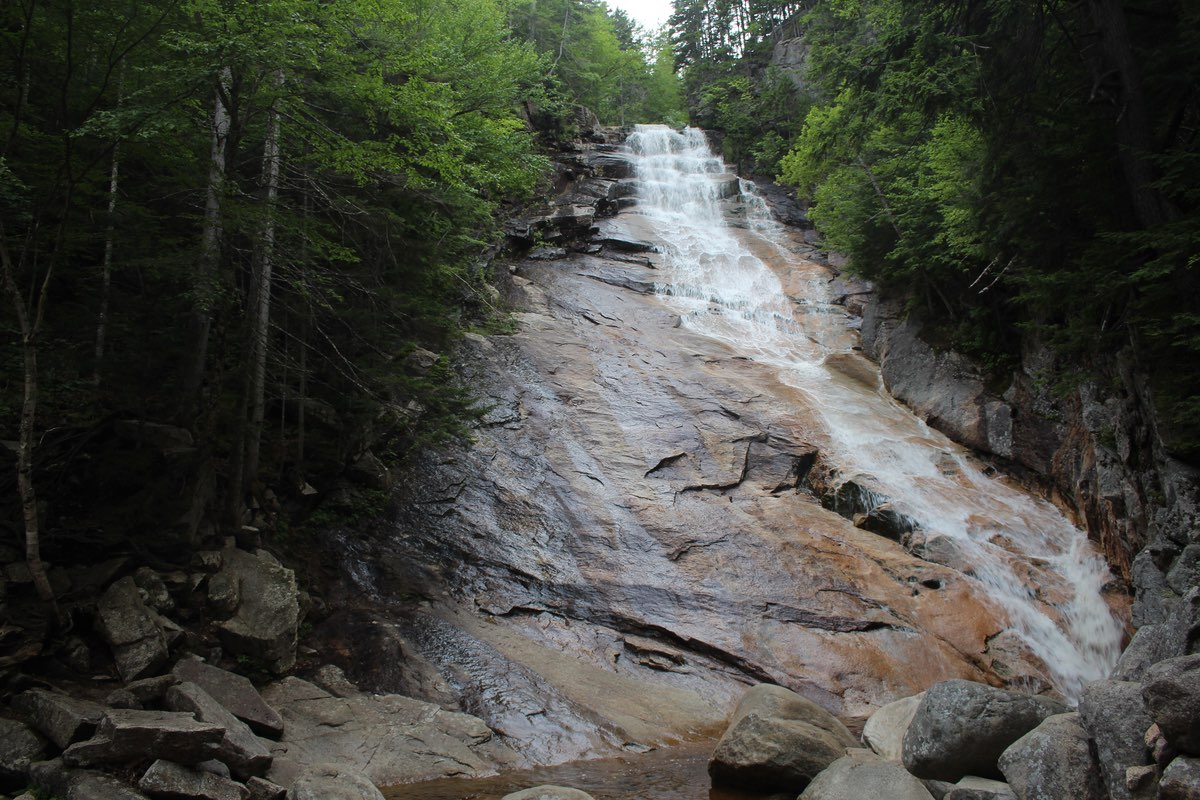 Ripley Falls in Crawford Notch State Park.