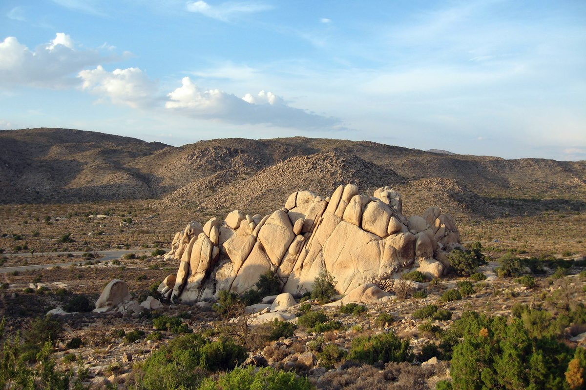 Hiking the Ryan Mountain Trail in Joshua Tree National Park.