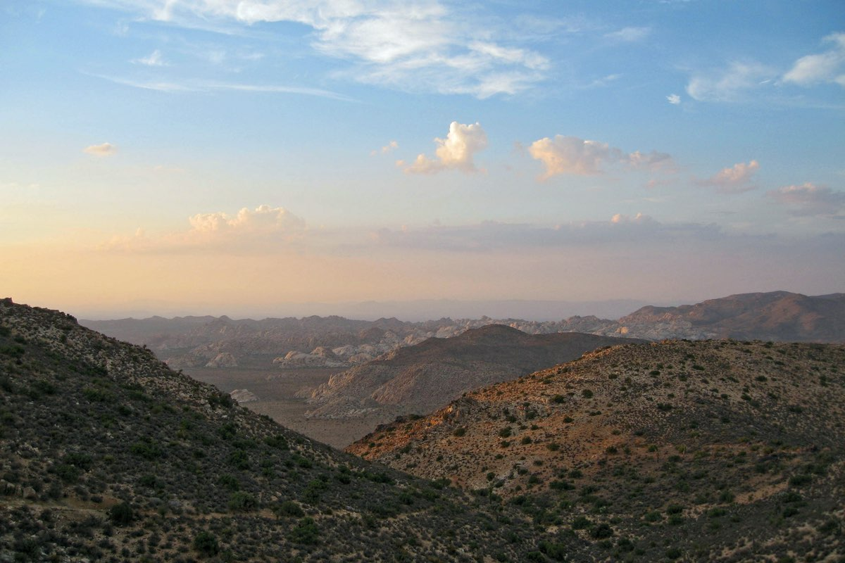 View from the Ryan Mountain Trail in Joshua Tree National Park.