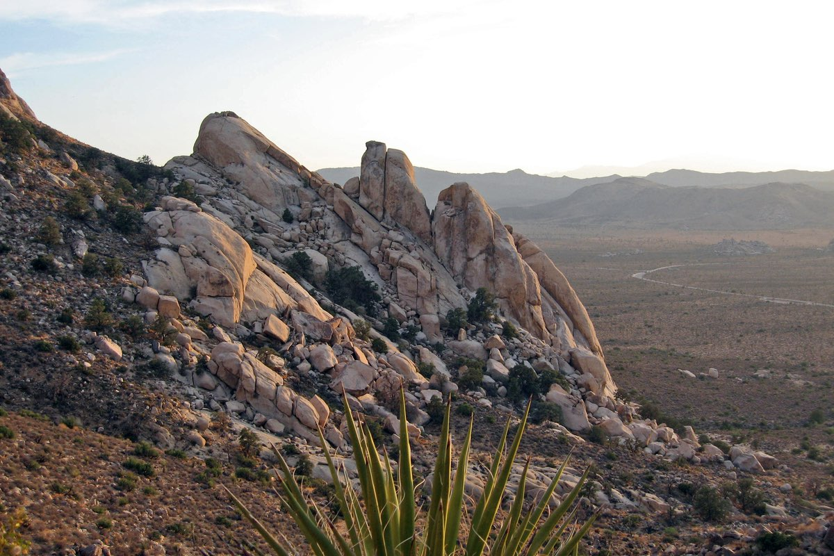 The Saddle along the Ryan Mountain Trail in Joshua Tree National Park.