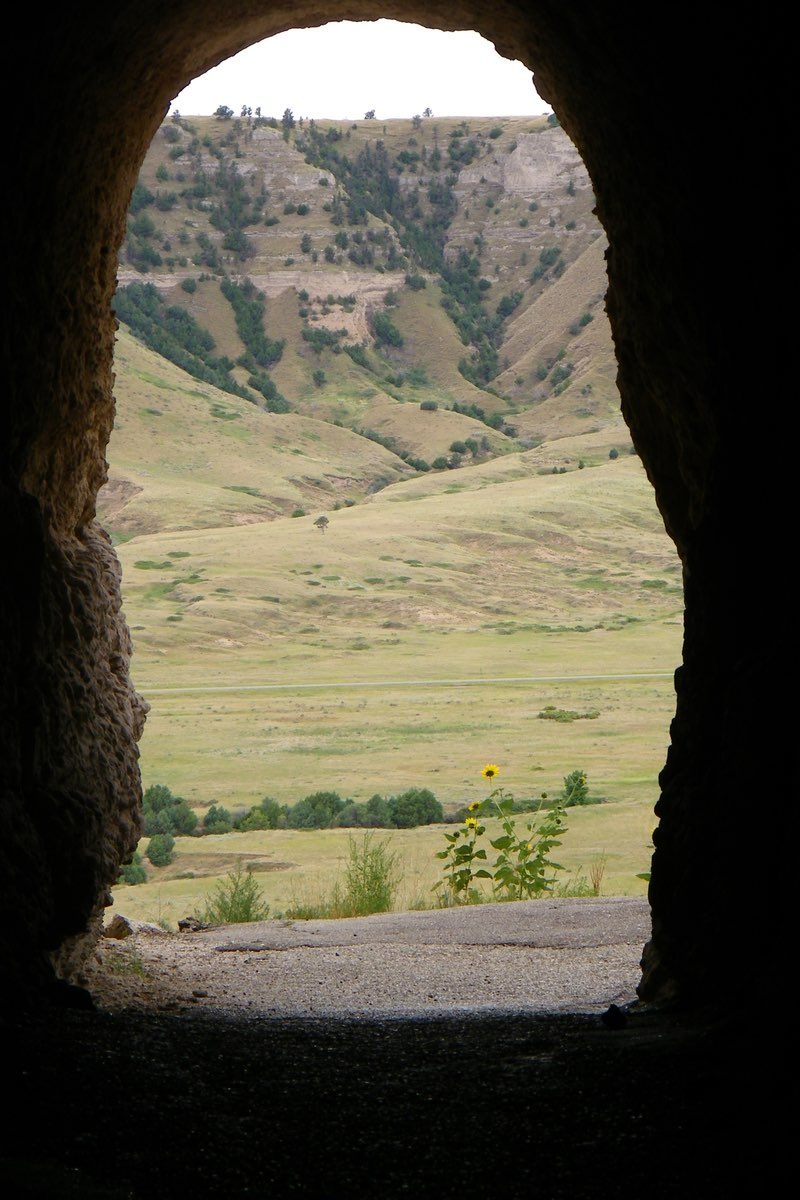 Saddle Rock tunnel in Scotts Bluff National Monument, Nebraska.
