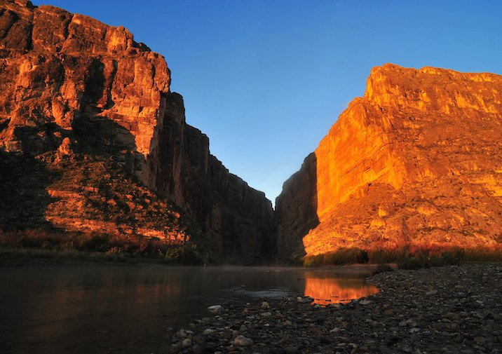 Santa Elena Canyon in Big Bend National Park, Texas.
