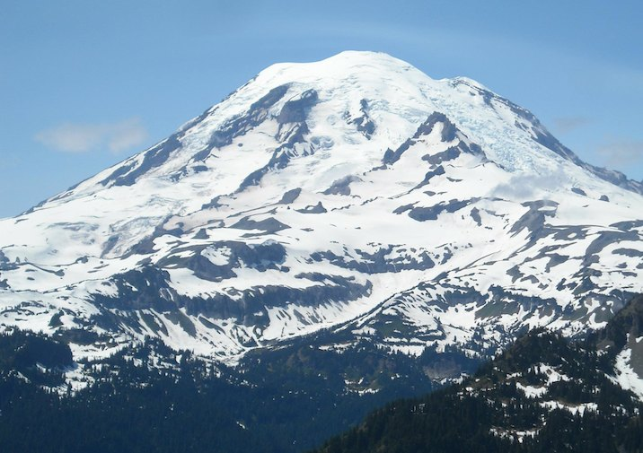 Mount Rainier from Shriner Peak Trail.