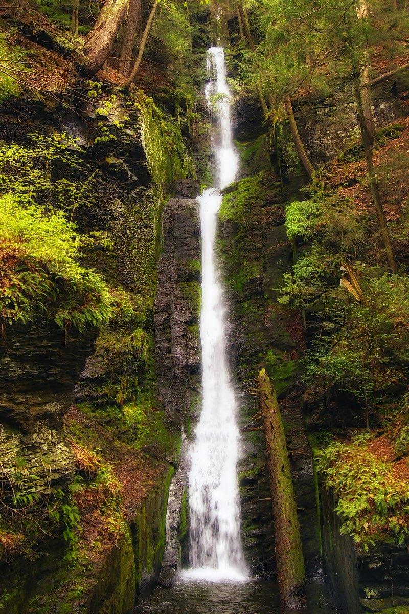 Silverthread Falls in Delaware Water Gap National Recreation Area.