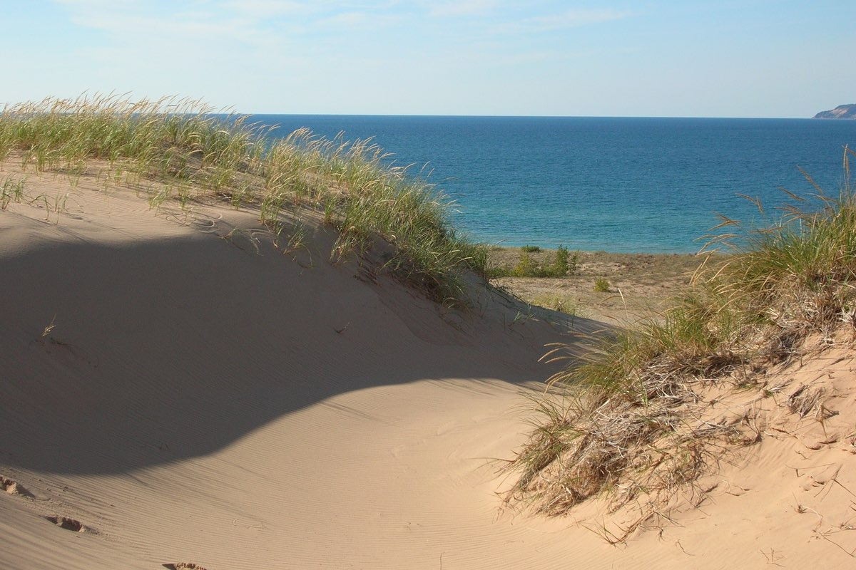 Lake Michigan from the Sleeping Bear Point Trail.