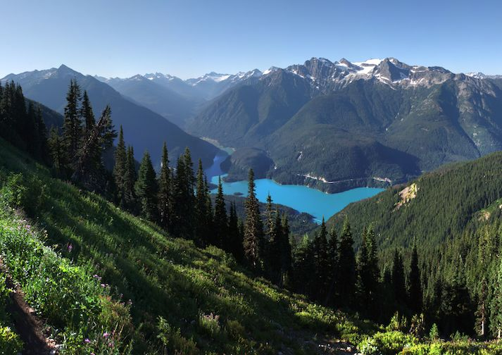 Amazing view from the Sourdough Mountain Trail in North Cascades NP.