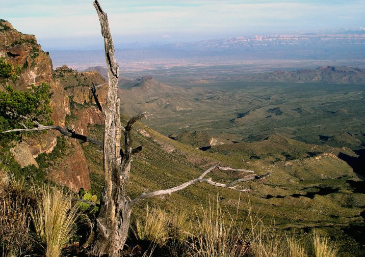 Stunning view South Rim Trail in Big Bend National Park, Texas.