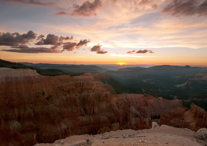 Sunset along the Spectra Point Trail in Cedar Breaks National Monument, Utah.