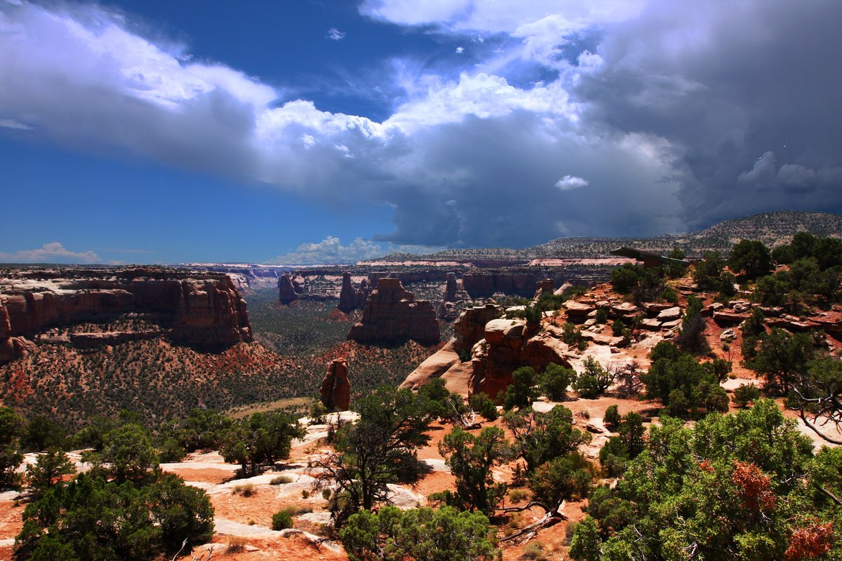 Storm brewing in Colorado National Monument.