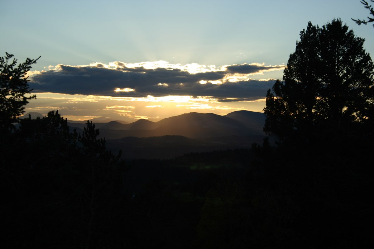 Sunset in Mueller State Park near Colorado Springs.