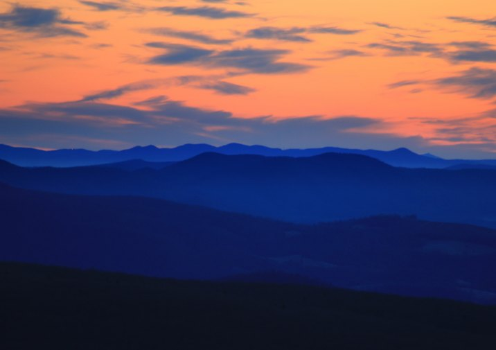 Sunset in Grayson Highlands State Park in Virginia.