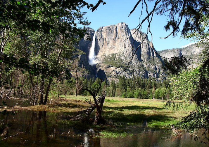 View From Swinging Bridge in Yosemite National Park.