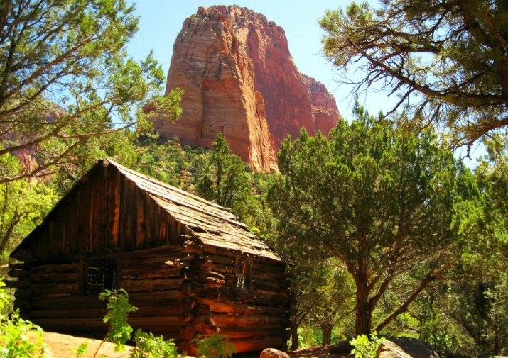 Historic Larson Cabin along the Taylor Creek Trail in Zion National Park.