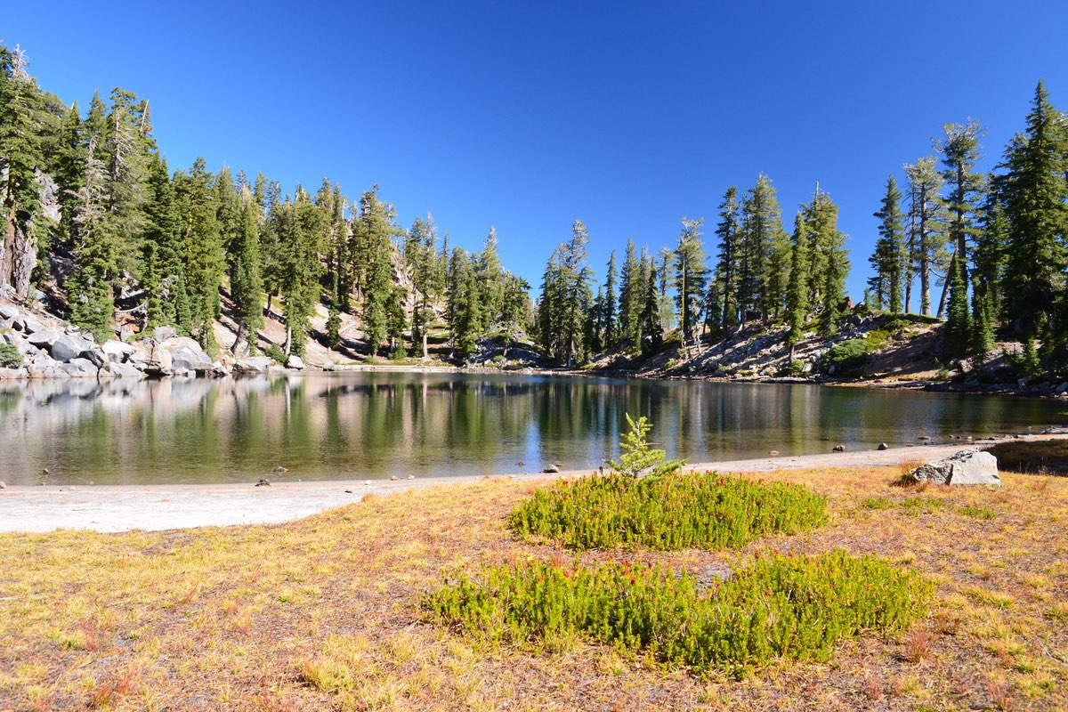 Terrace Lake in Lassen Volcanic National Park.