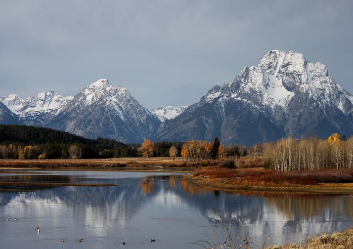 The Teton Mountain Range in Grand Teton National Park.