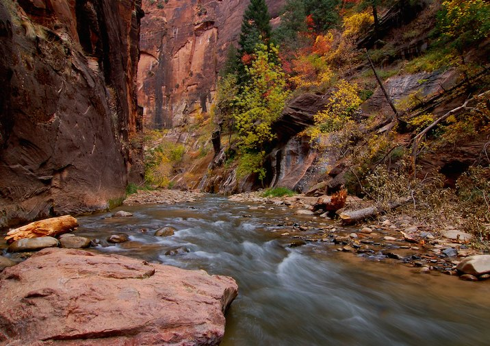 The Narrows of Zion stuns with sheer beauty.