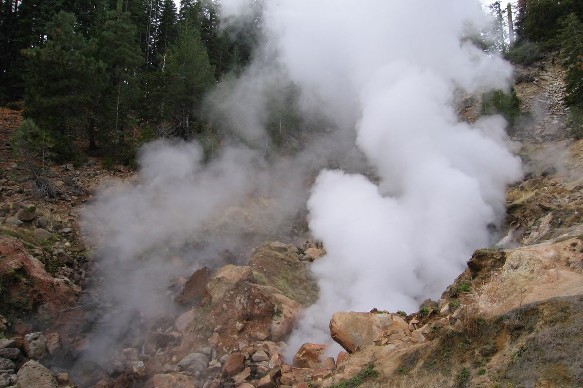 Thermal Geyser in Lassen Volcanic National Park.