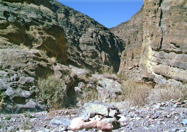 Titus Canyon Trail in Death Valley National Park, California.