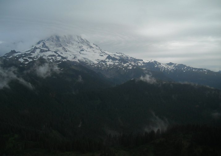Mount Rainier from the Tolmie Peak Trail.