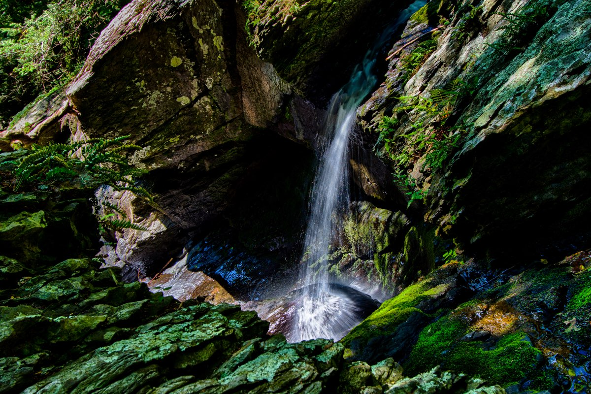 Waterfall along the Tumbling Water Trail in Delaware Water Gap NRA.