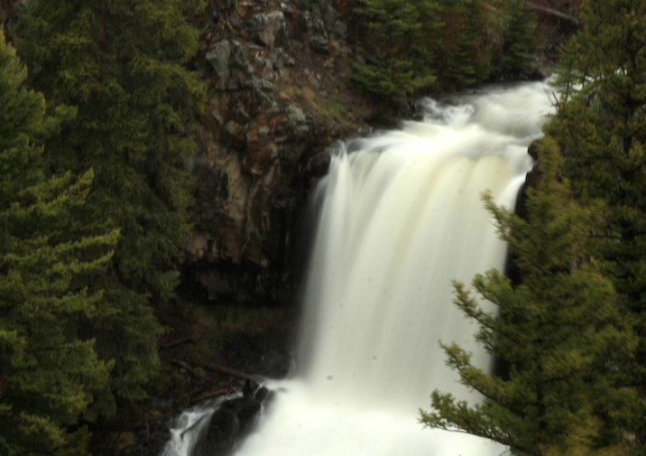 Undine Falls in Yellowstone National Park.