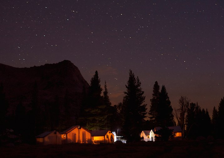 Vogelsang High Sierra Camp in Yosemite National Park.