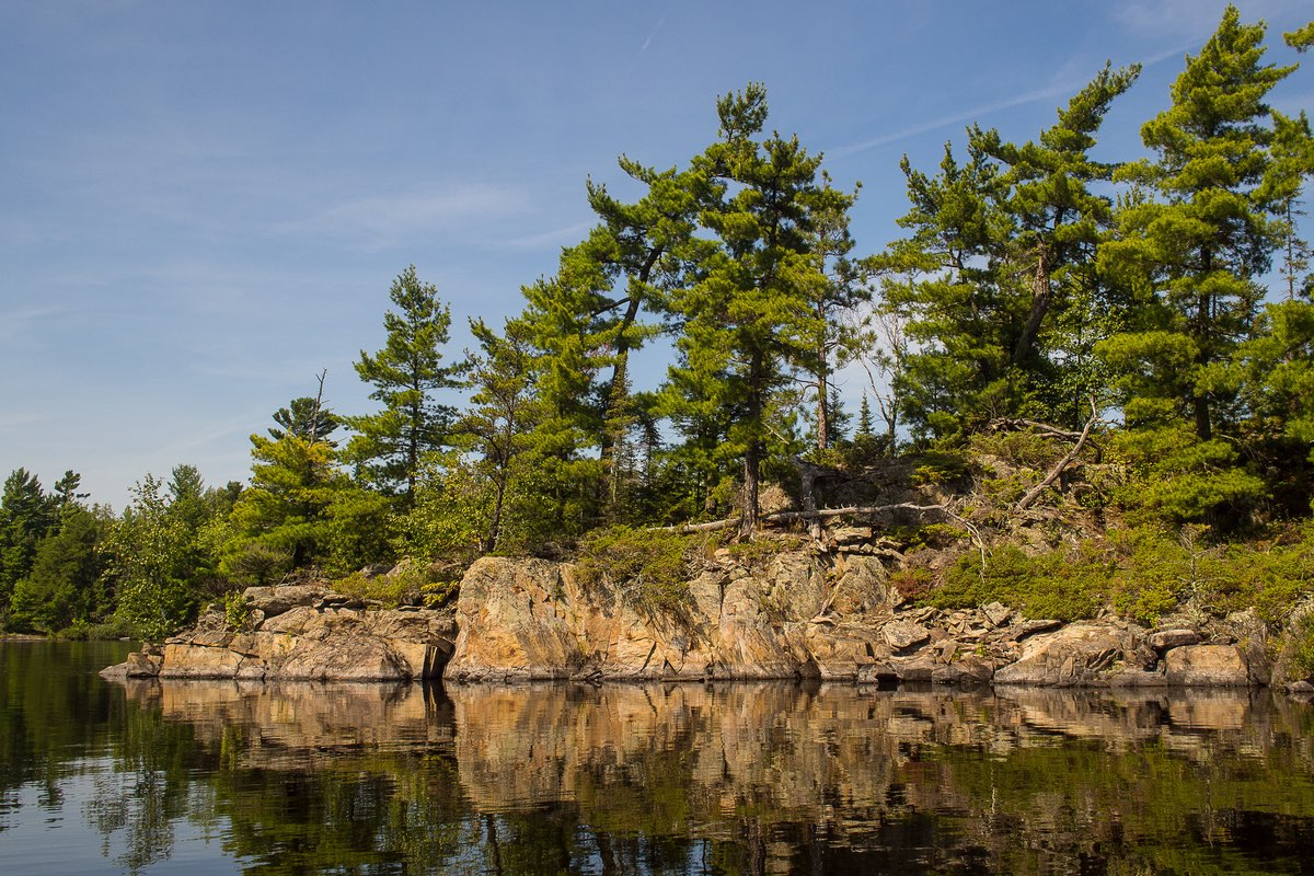 Beautiful and rugged shoreline in Voyageurs National Park.