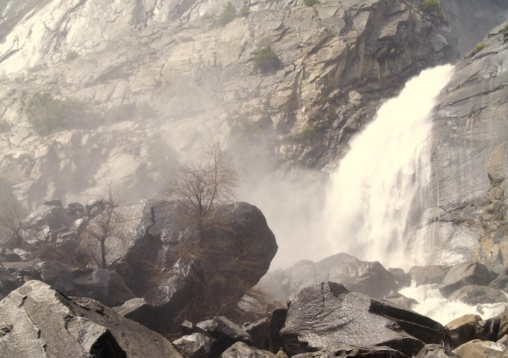 Wapama Falls in Yosemite National Park.