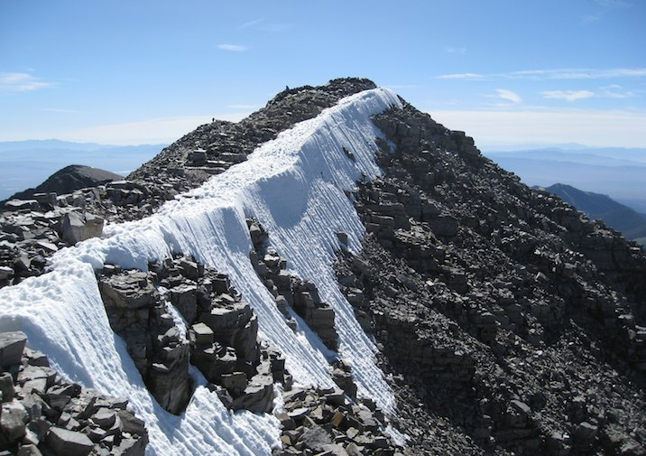 View from the Summit of Wheeler Peak in Great Basin National Park.
