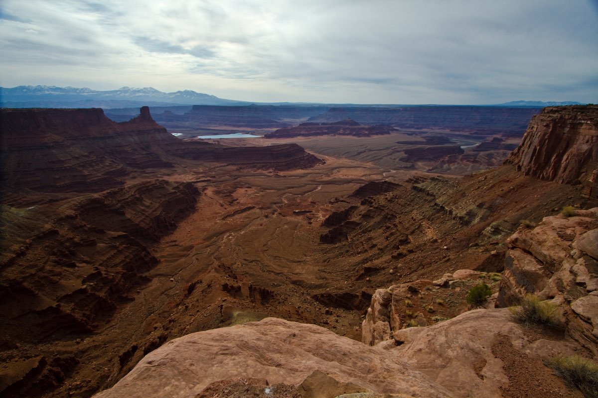 Incredible view from the White Rim Overlook Trail.