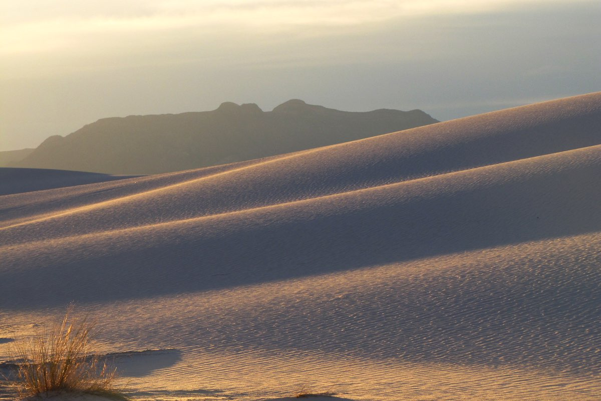 Sunrise over White Sands National Monument.
