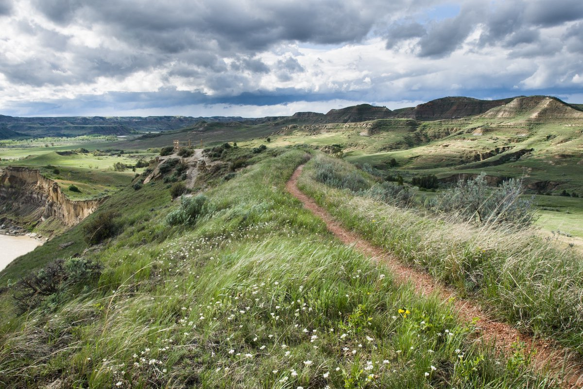 Wind Canyon Trail in Theodore Roosevelt National Park.