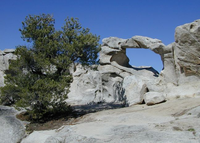 Window Arch in City of Rocks National Reserve near Twin Falls Idaho.