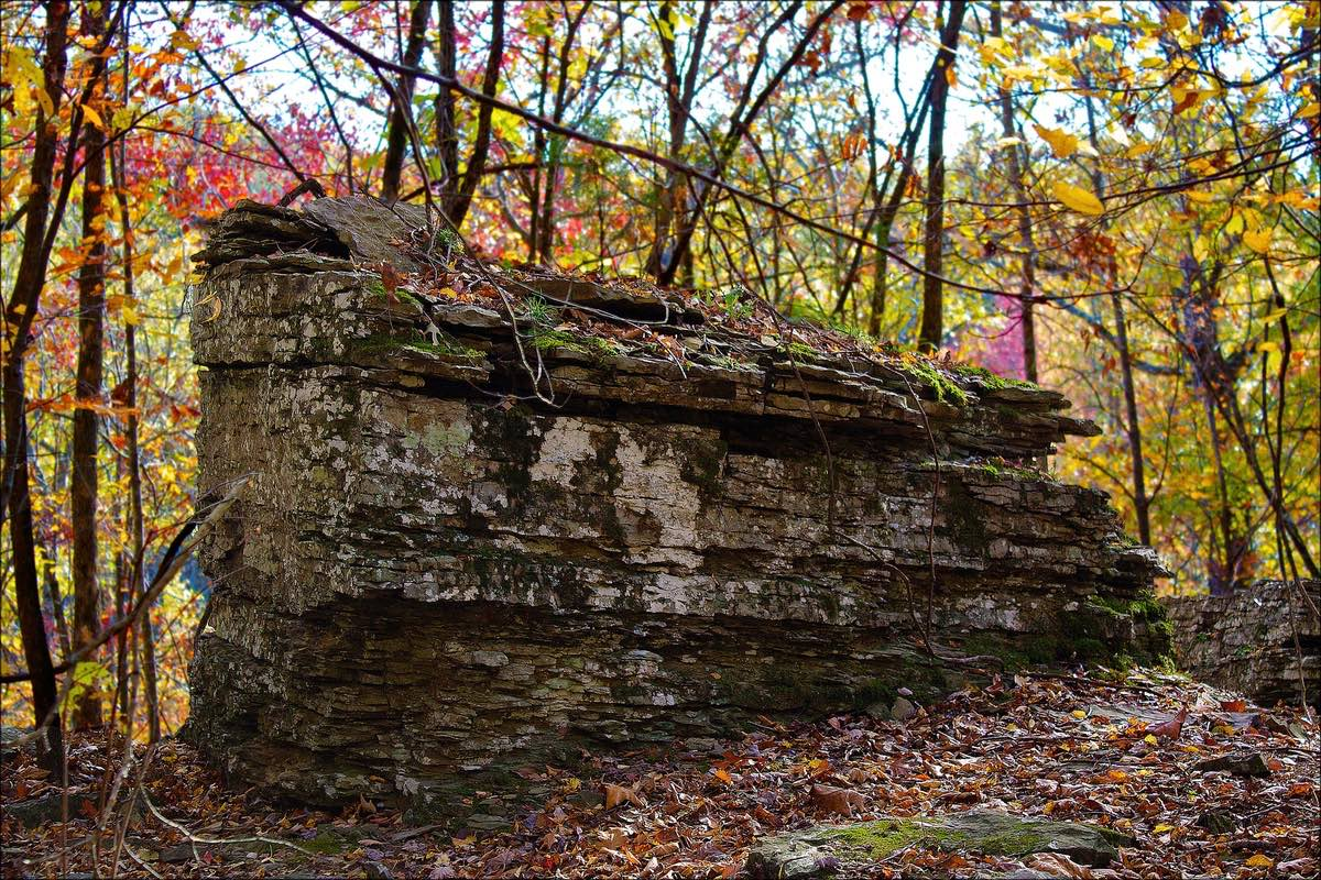 Yellow Rock Trail in Devil's Den State Park, Arkansas.