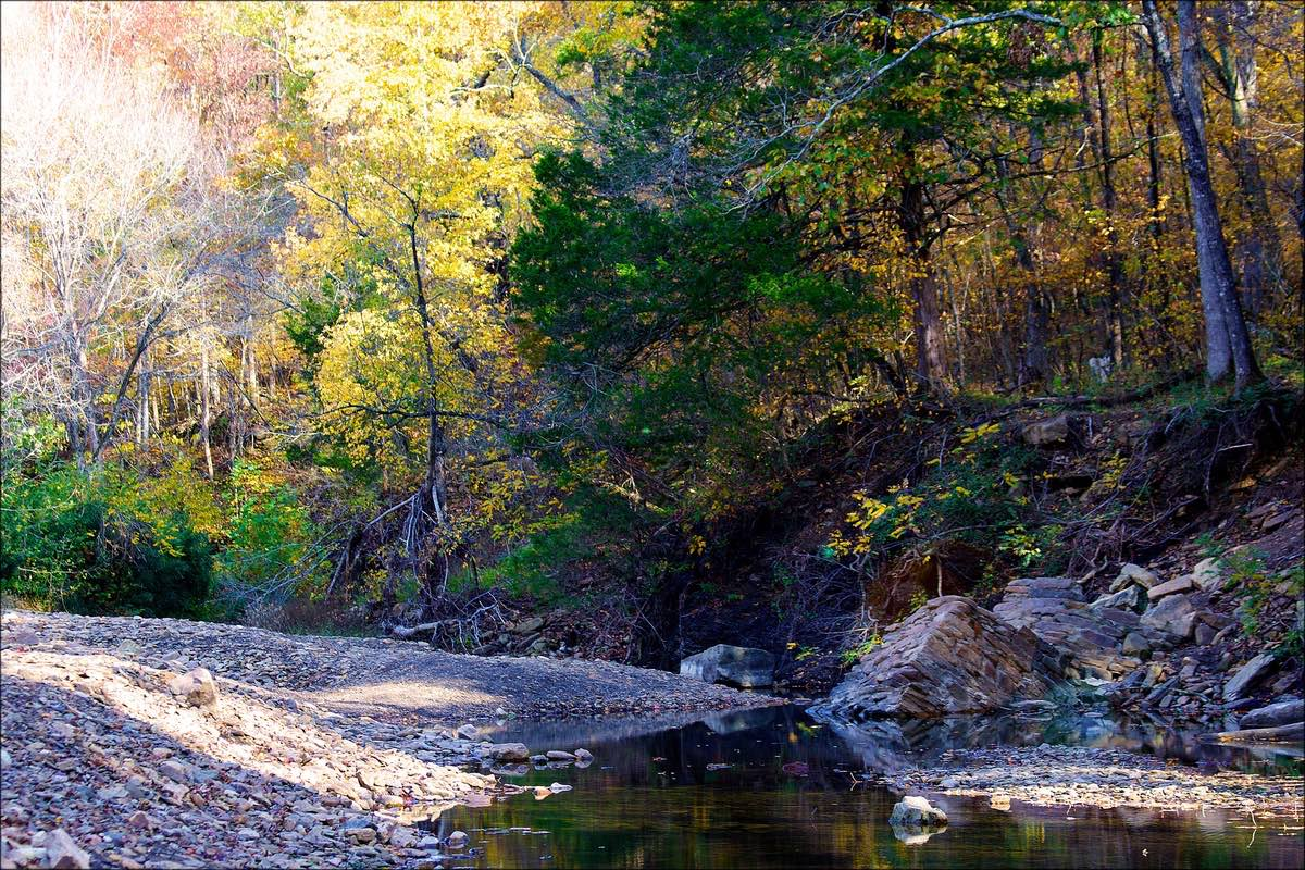 Yellow Rock Trail in Devil's Den State Park, Arkansas.
