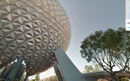 Disney Google Street View