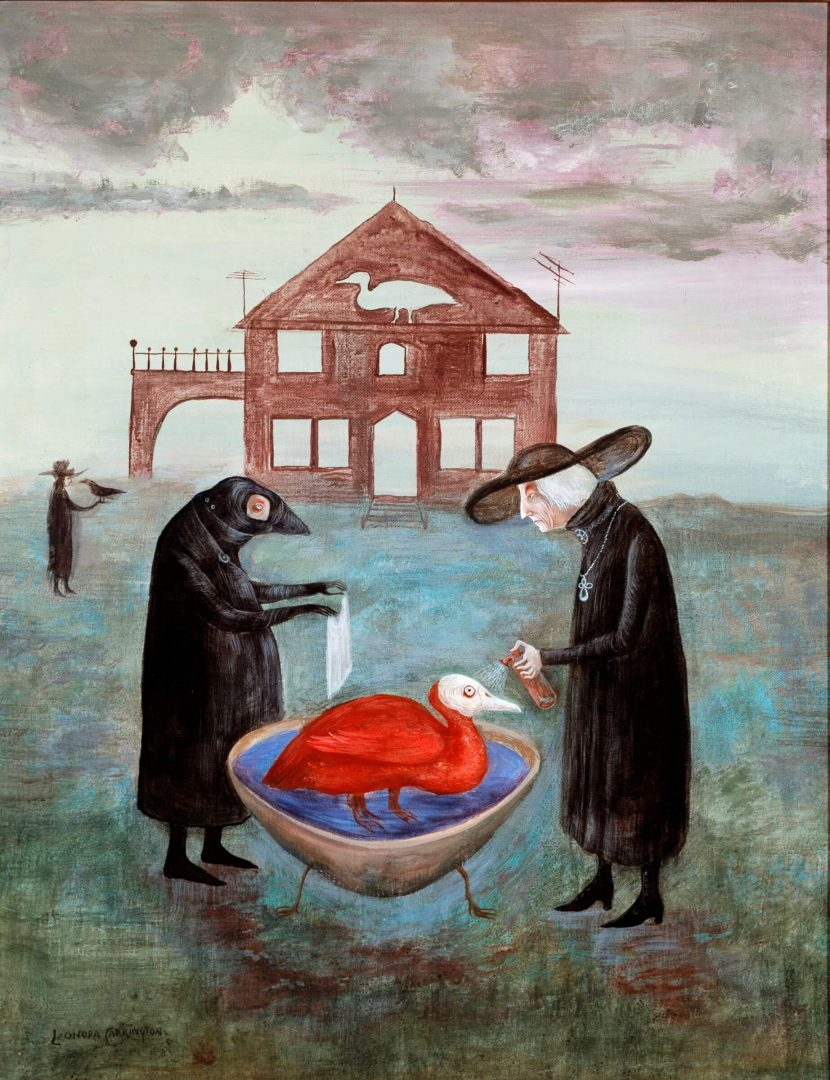 Leonora Carrington. Bird Bath (1974)