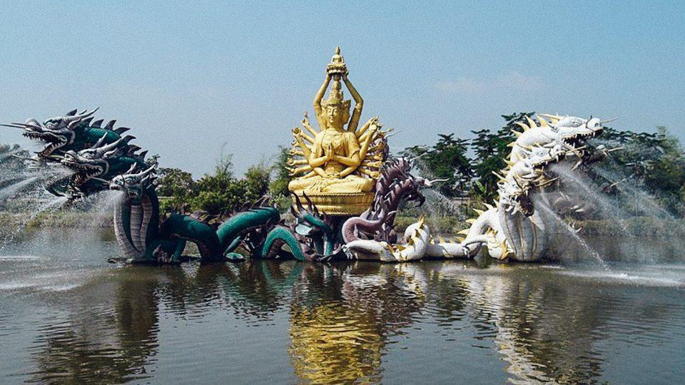 Fuente de Bodhisattva Avalokiteshvara, en la antigua Siam, Tailandia