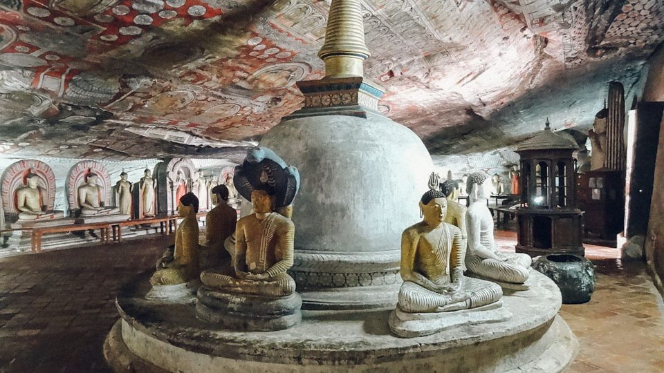 Cueva de Dambulla, en Sri Lanka