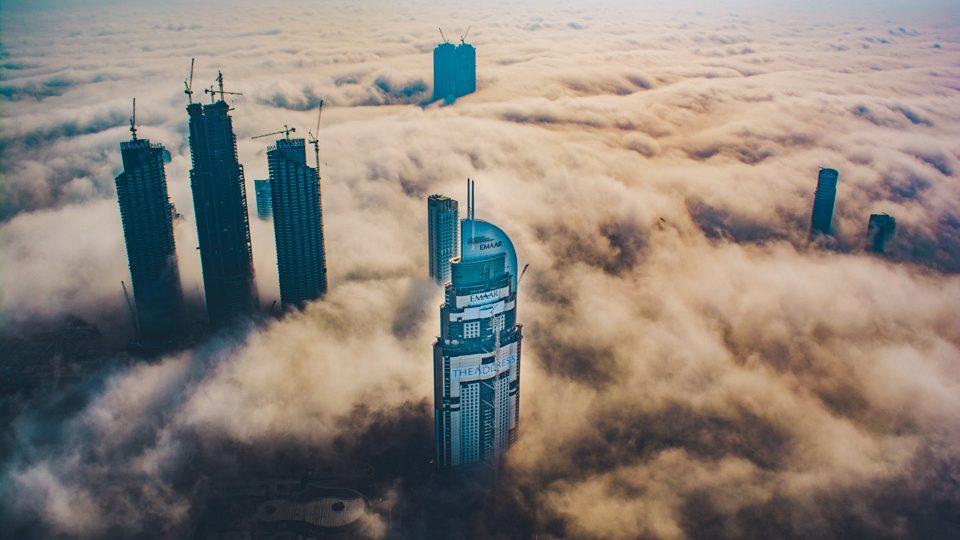Vista desde el mirador del Burj Khalifa, por Denis Harsch