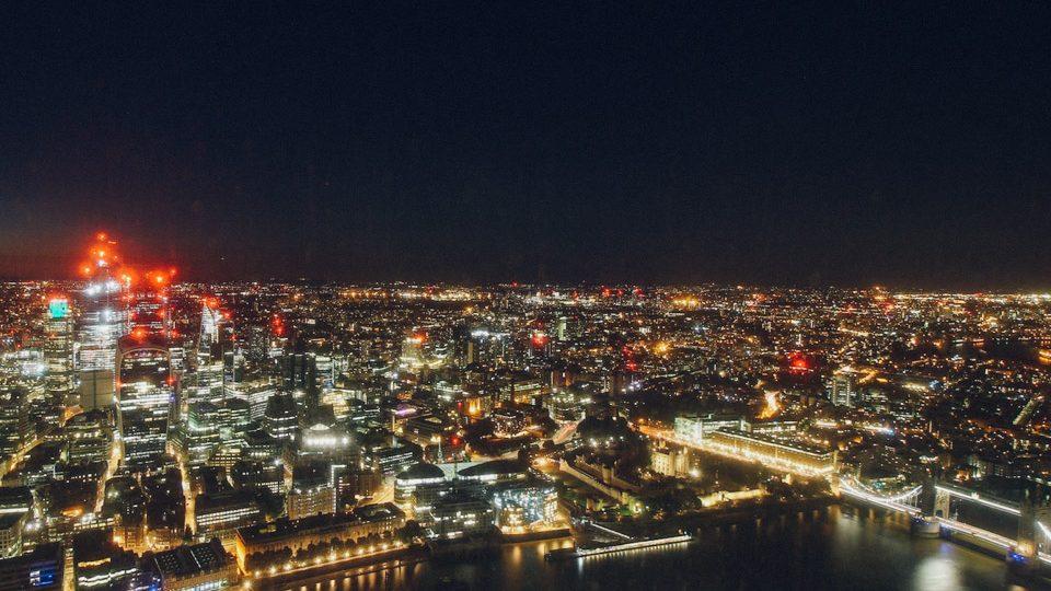Vista capturada por las cámara de The Shard, en Londres